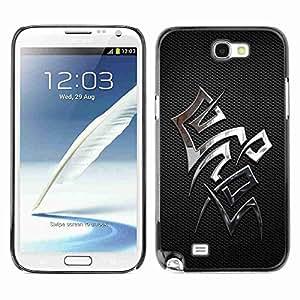 Planetar® ( Chrome Sign ) Samsung Galaxy Note 2 II / N7100 Fundas Cover Cubre Hard Case Cover