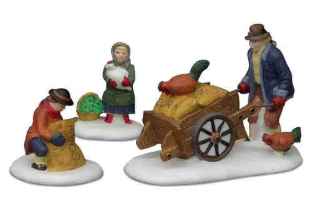 Department 56 _ Heritage Village Collection _ HARVEST SEED CART _ Set of 3 _ # 5645-6 _ Retired by Harvest 2000