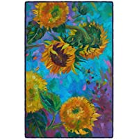 Brumlow Mills EW10340-30x46 Painted Sunflowers Kitchen and Entryway Floral Rug, 26 x 310