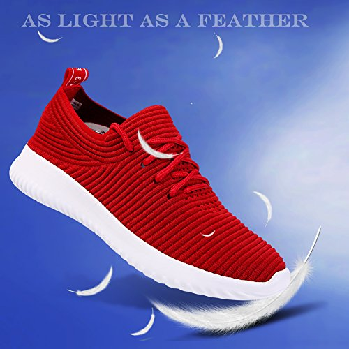 Sneakers Rouge Running Gym Casual Outdoor Femme pour Course Sport Homme Basket de Athlétique Kivors Fitness Chaussures waY8x8PZ