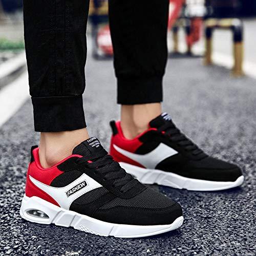 Été Jogging Cushion Air Tendance Sneakers Mesh En Plein De Sports Upper Course amp; Noir Chaussures 41 Rouge Hommes Respirant Assortie EPPnWqv