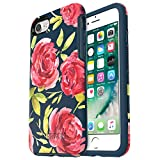 OtterBox SYMMETRY SERIES Case for iPhone 8 & iPhone 7 (NOT Plus) - Retail Packaging - BOUQUET (BLAZER BLUE/BLAZER BLUE/BOUQUET GRAPHIC)