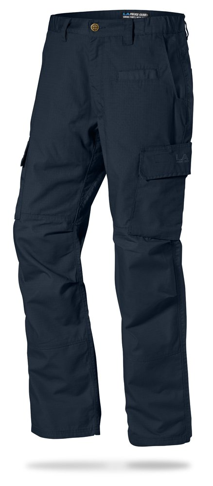 LA Police Gear Mens Urban Ops Tactical Cargo Pants - Elastic WB - YKK Zipper - Navy - 34 x 32