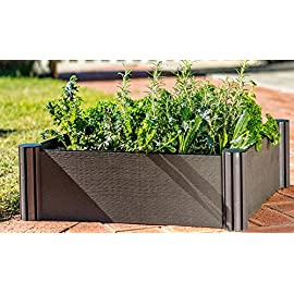 "Watex WX035 24 by 24"" Raised Garden Bed Kit,Micro Irrigation kit Included 12 Dimension: 24 x 24 x 6 inches / unit DIY friendly, tool free Modular design"