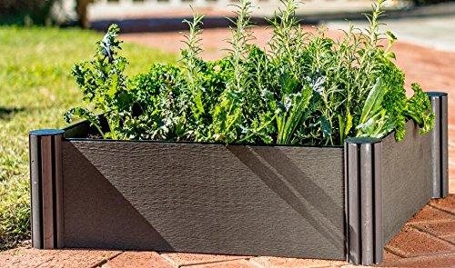 """Watex WX035 24 by 24"""" Raised Garden Bed Kit,Micro Irrigation kit Included 1 Dimension: 24 x 24 x 6 inches / unit DIY friendly, tool free Modular design"""