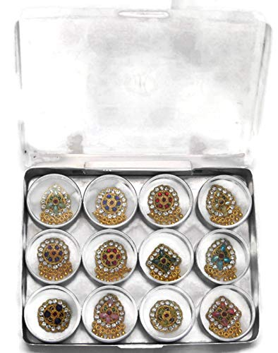 Designer Reusable Bindi Set, Gift set, Authentic Assorted Bindis by BridalBindis (Image #2)