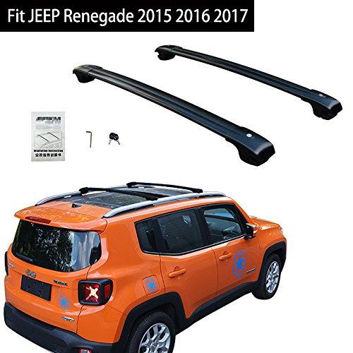 Fit For JEEP Renegade 2015 2016 2017 Lockable Cross Bar Roof Racks Baggage Luggage Racks - Black -  KPGDG, EJPZYXH