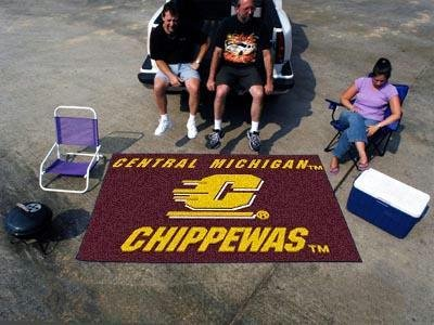 Central Michigan Chippewas Tailgater Mat w Official School Logo by Fanmats