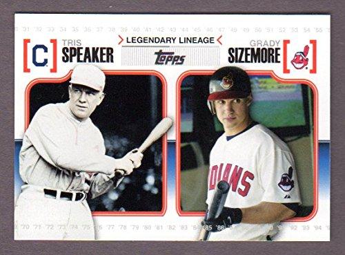 Tris Speaker / Grady Sizemore 2010 Topps Baseball (Legendary Lineage) (Red Sox) - San Diego Club Tri