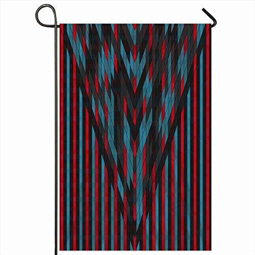 Ahawoso Outdoor Garden Flag 12x18 Inches Nightlife Beam Vintage Geometric Disco Abstract Glory Brilliant Celebration Club Dance Discus Design Two Sides Seasonal Home Decor House Yard Sign Banner