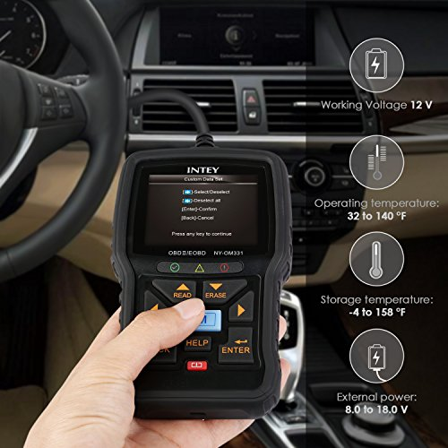 INTEY OBD2 Car Fault Code Reader OBD II Scanner Engine CAN