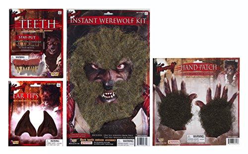 [Werewolf Costume & Accessories Kit by Express Novelties Online] (Werewolf Accessories)