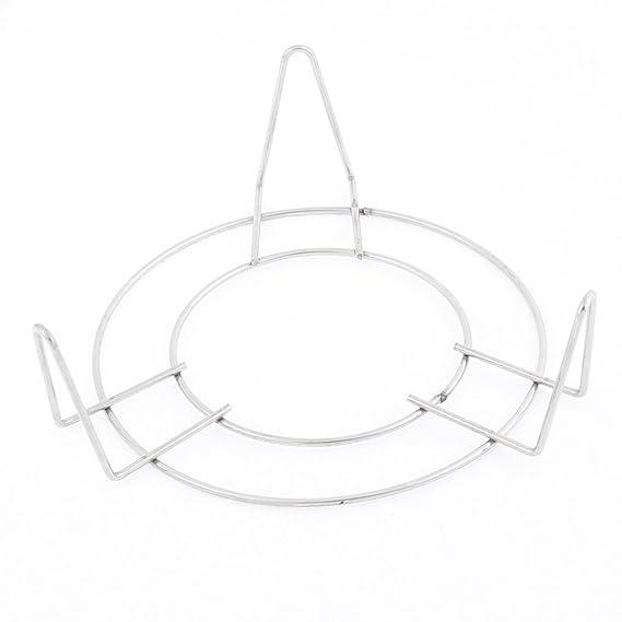 Amazon.com: eDealMax cocina de acero inoxidable 3 piernas Olla de Alimentos al vapor del estante del soporte de 12 x 5 cm: Kitchen & Dining