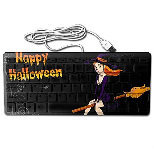 Happy Halloween Pictures Ultra-Slim 78 Keys Gaming Keyboard Can Apply Or Be Used Universally]()