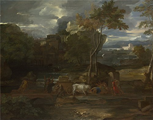 Oil Painting 'Sbastien Bourdon The Return Of The Ark', 12 x 15 inch / 30 x 39 cm , on High Definition HD canvas prints is for Gifts And Bath Room, Game Room And Kitchen Decoration, sale