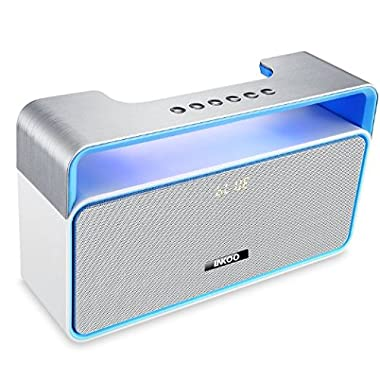 Bluetooth Stereo Speakers Portable, LNKOO Classic Sound Cannon Wireless Powerful Sound with Enhanced Bass Surround Subwoofer with FM Radio for Home and Outdoor Party Beach Picnic - Blue