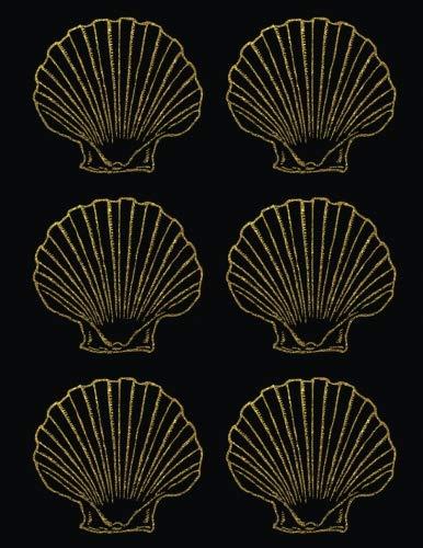 Mermaid Sea Shell Scallops Journal (8.5