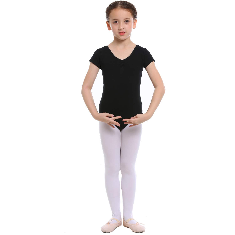 Koolen Ballet Leotards for Girls, Girls Short Sleeve Leotard, Leotard for Dance, Gymnastics
