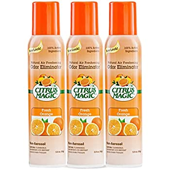 Citrus Magic Natural Odor Eliminating Air Freshener Fresh Orange, Pack of 3, 3-Ounces Each