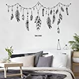 Giga Gud Wall Stickers,Wall Decal Sticker for Baby Room,Living Room TV Background Bedroom Home Art Mural DIY Decor (FEATHER)