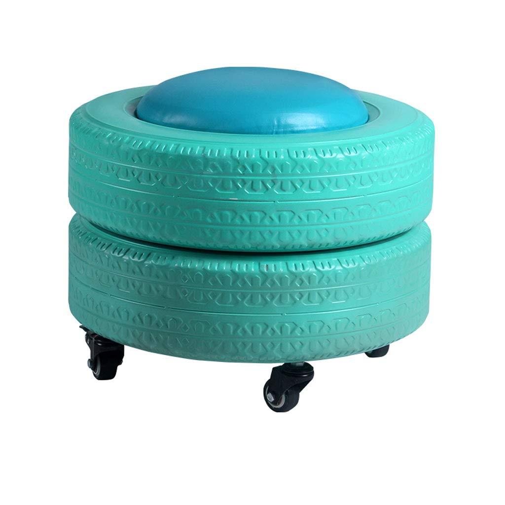 bluee Creative color Tire Storage Stool Change shoes Stool Living Room Sofa Stool Modern Home Fun Novelty Storage Stool (color   bluee)