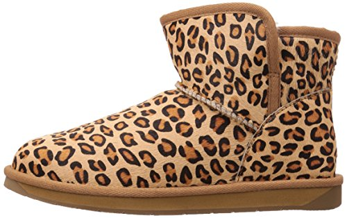 206 Collective Women's Bellevue Shearling Ankle Boot Leopard Calf Hair