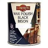 LIBERON BLACK BISON WAX PASTE WOOD & FURNITURE POLISH 1 LITRE ANTIQUE PINE