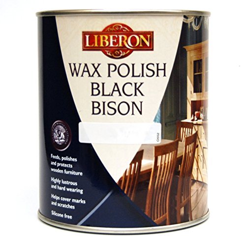 LIBERON BLACK BISON WAX PASTE WOOD & FURNITURE POLISH 1 LITRE ANTIQUE - Wax Pine Antique