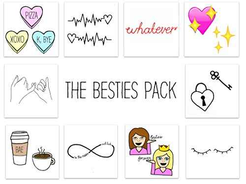 INKED by dani Temporary Tattoos (THE BESTIES PACK)