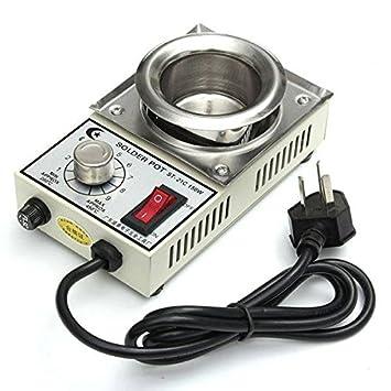 Bargain World St-21c 220v 150w 450 ℃ max 50mmelectric crisol de soldadura baño de soldadura desoldar: Amazon.es: Electrónica