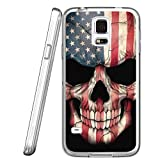Best Scratches For Galaxies - S5 Case American Flag Skull, LAACO Scratch Resistant Review