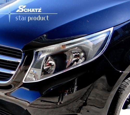 Chrom Scheinwerferrahmen Für Mercedes Benz V Klasse Vito W447 Ab 10 2014 Auto