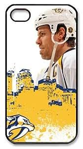 LZHCASE Personalized Protective Case for iPhone 4/4S - NHL Nashville Predators #6 Shea Weber