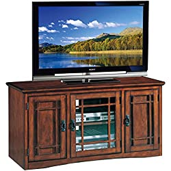 Leick Riley Holliday Mission Tall TV Stand, 50-Inch, Oak