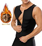 Bujui Men Waist Trainer Vest for Weight Loss Hot Sauna Sweat Suit Neoprene Corset Body Shaper Zipper Tank Top Workout Shirt Review
