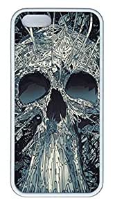 C Skull Customized Popular DIY Hard Back Case Cover For iPhone 5 5S Soft White by lolosakes
