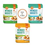 Wundernuggets The Trio - Original Rosemary, Gluten & Grain Free Rosemary Chicken and Minty Lentil (2 Bags Each)