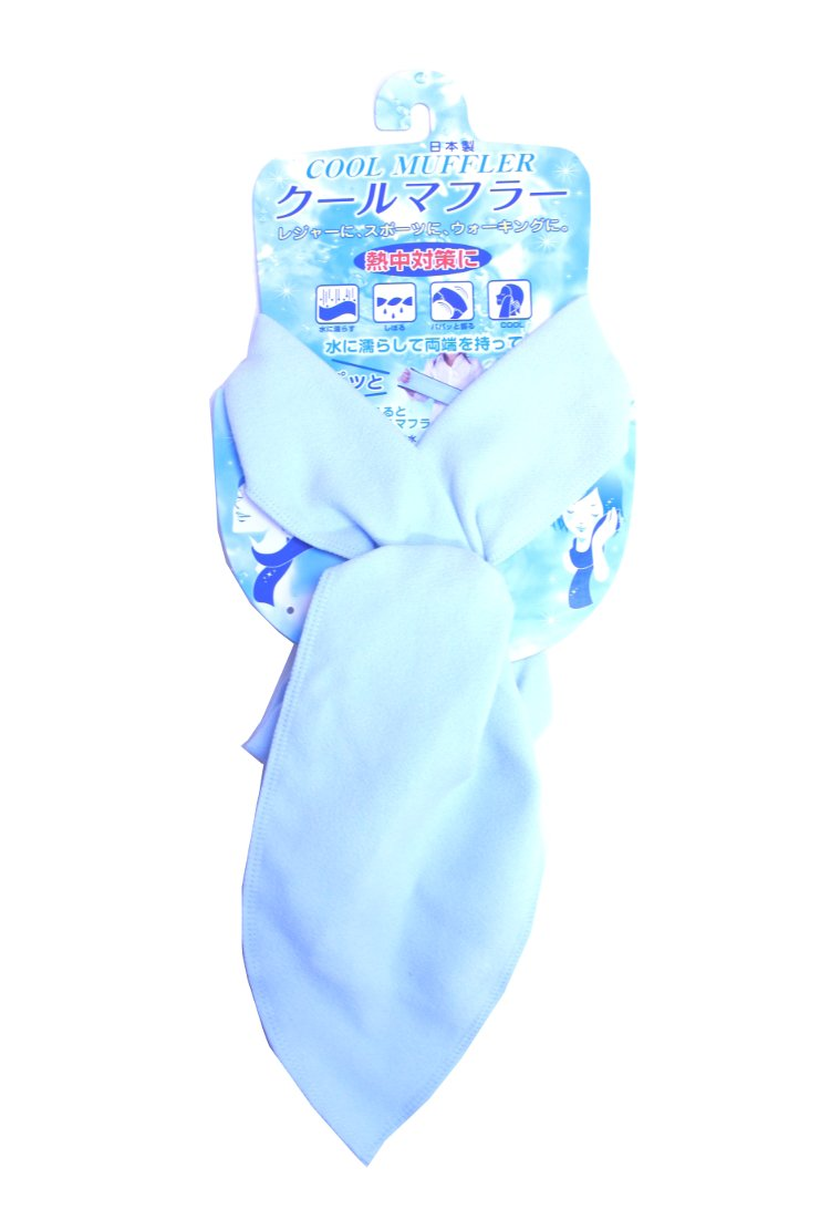 Cool Muffler,Japanese amazing cool muffler scarf for humid summer (Blue)