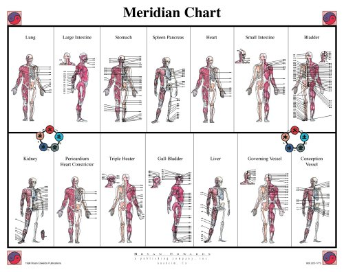 Chart Acupuncture Meridians (Meridian Chart)