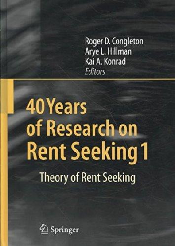Download 40 Years of Research on Rent Seeking (2 Volume Set) pdf