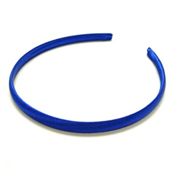 Amazon.com   Royal Blue Satin Covered Alice Hair Band Headband Bridesmaid  Flower Girl 1cm (0.4) Wide by Pritties Accessories   Beauty dd2a0a73e96