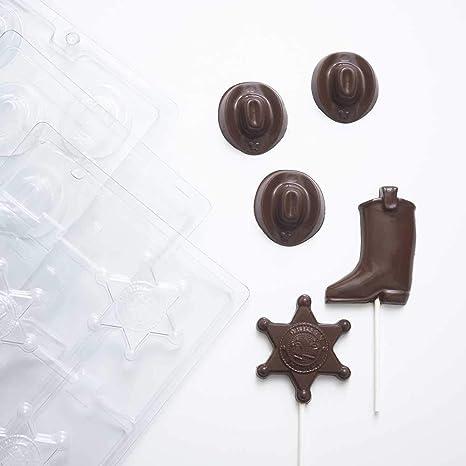 Western vaquero Chocolate moldes (1) Mini Cowboy Sombrero Candy Mold (1) Cowboy