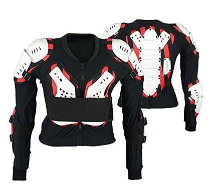 MCW Gear Adulto Blanco Motocross Protección Corporal Bikequad Protección Enduro Biónico Quad Chaqueta - Chica
