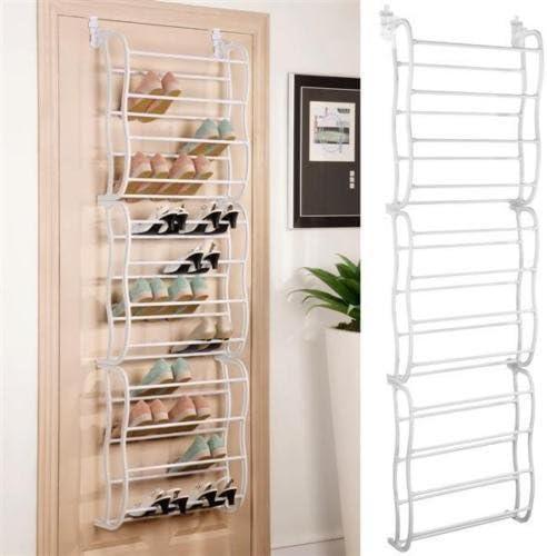 Amazon Com 36 Pair Over The Door Hanging Shoe Rack Organizer