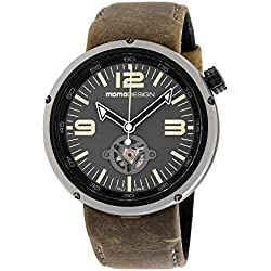 Momo Design Evo Automatic Grey Dial Brown Leather Mens Watch MD1011BS-32