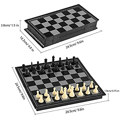 G-Tree Chess Set, Folding Magnetic Travel Chess Sets Portable Game Board -9.8 Inches for Kids Adult Man Women Teens Toy Gift - Learning and Education Toys Gift Father's Day Children's Day