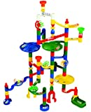 Edushape Marbulous Marble Run - 82 Pieces + 50 Marbles!! (Total 132 Pc Set) Sturdy Setups with Clear Step-by-step Illustrated Instructions in Four Different Skills Levels!!!