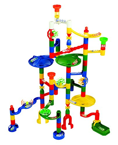 Edushape-Marbulous-Marble-Run-82-Pieces-50-Marbles-Total-132-Pc-Set-Sturdy-Setups-with-Clear-Step-by-step-Illustrated-Instructions-in-Four-Different-Skills-Levels