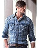 Ryan Michael Men's Indigo Double Face Shirt Indigo XX-Large
