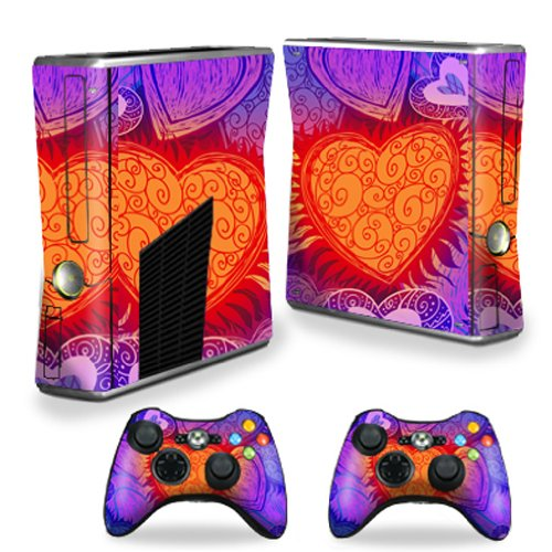 MightySkins Protective Vinyl Skin Decal Cover for Microsoft Xbox 360 S Slim + 2 Controller skins wrap sticker skins My Love